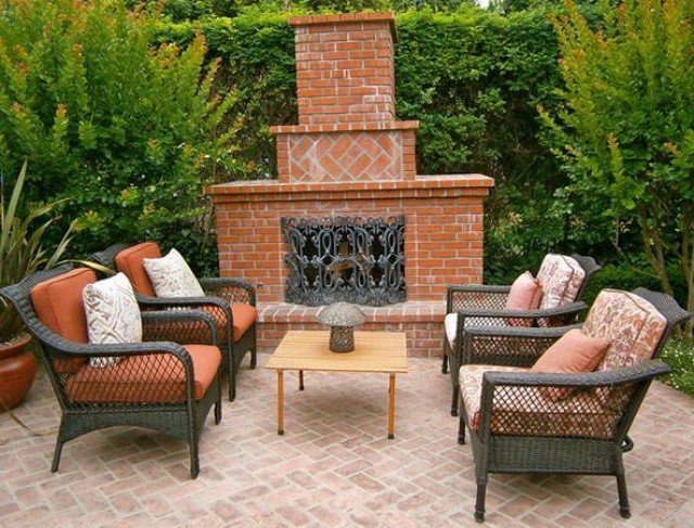 Outdoor Fireplace Designs Photos