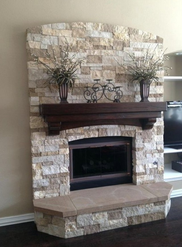 Painting A Brick Fireplace To Look Like Stone