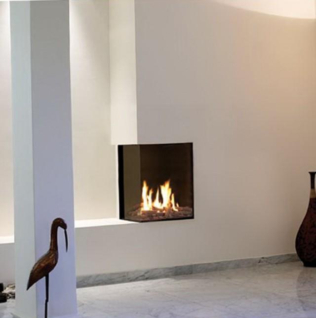 Small Corner Gas Fireplace