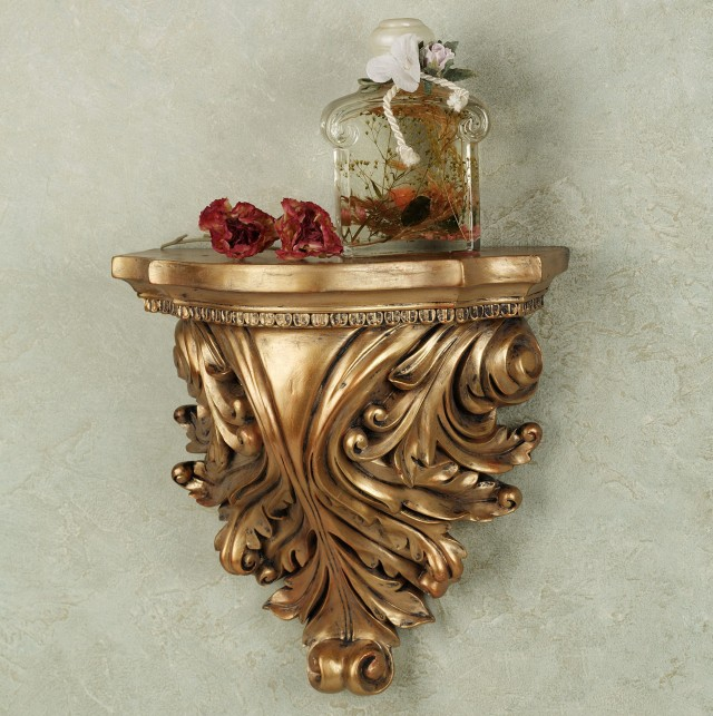 Small Wall Sconce Shelf