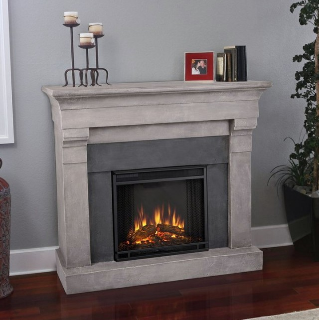 Stone Electric Fireplace Entertainment Center