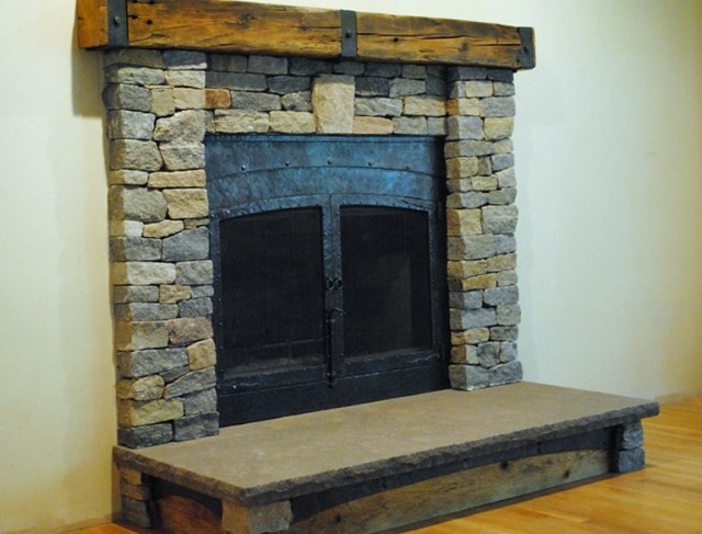 Stone Veneer Fireplace Before After