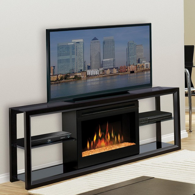 Tv Entertainment Center With Electric Fireplace
