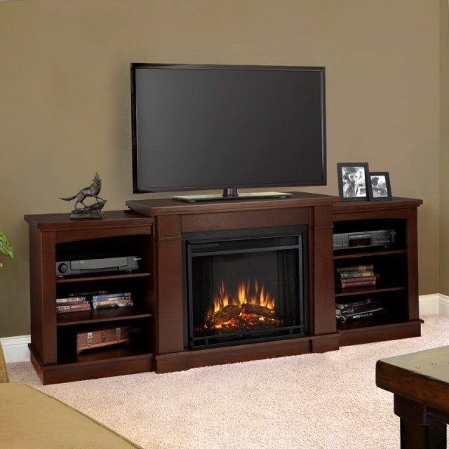Tv Stand With Fireplace And Mini Fridge