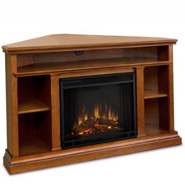 Ventless Gas Fireplace Entertainment Center