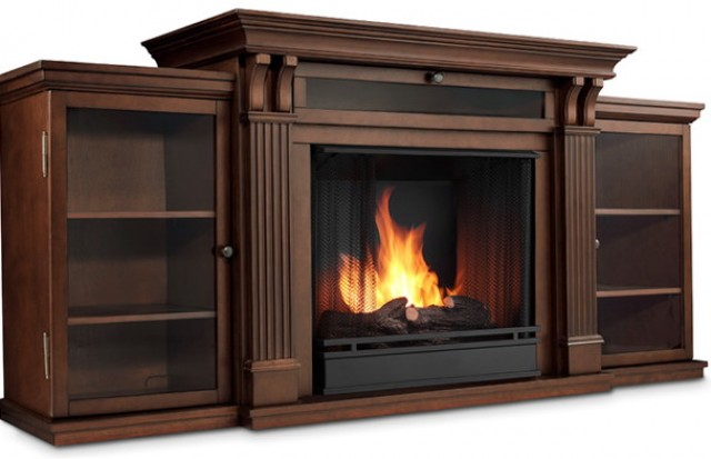 Wall Unit Entertainment Center With Electric Fireplace