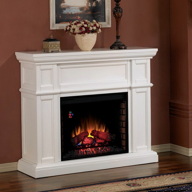 White Electric Fireplace Canada