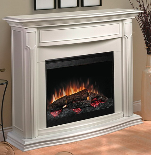 White Electric Fireplace Heater