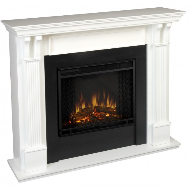White Electric Fireplace Insert