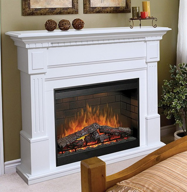 White Portable Electric Fireplace