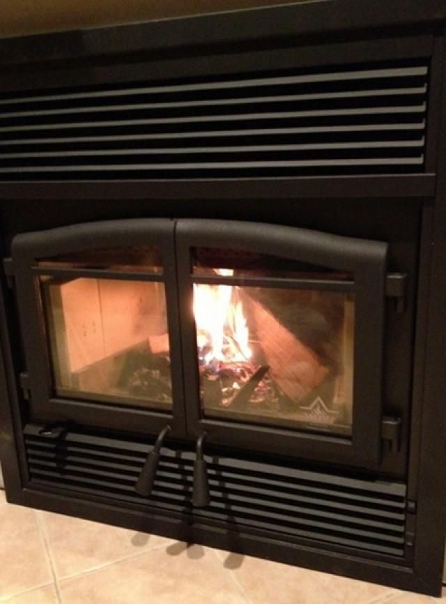 Zero Clearance Corner Wood Burning Fireplace