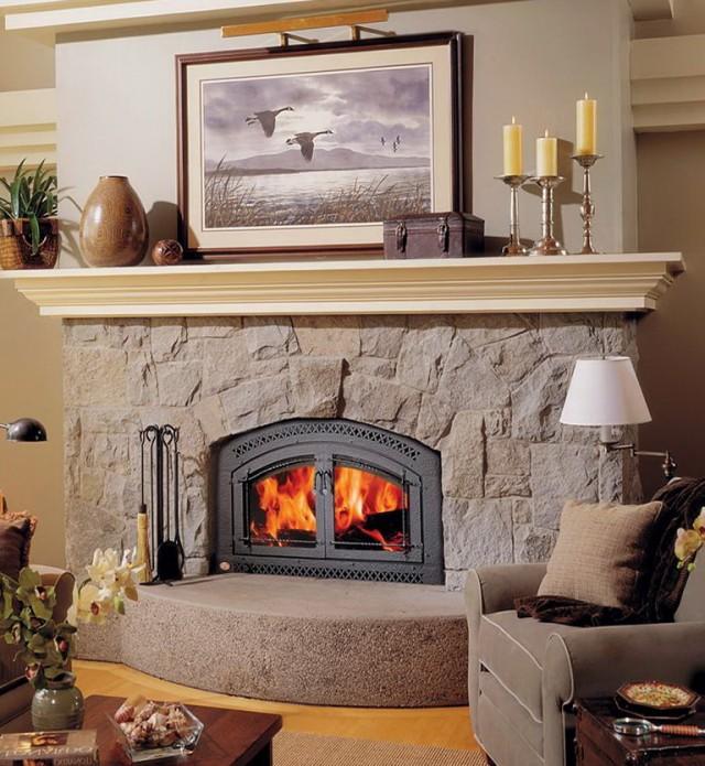 Zero Clearance Wood Burning Fireplace Insert