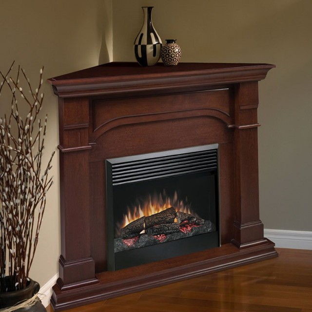 42 Corner Cherry Electric Fireplace
