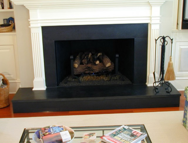 Absolute Black Granite Fireplace Surround
