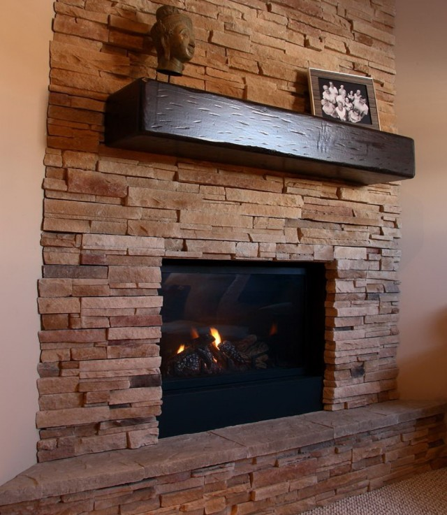Barn Wood Fireplace Surround