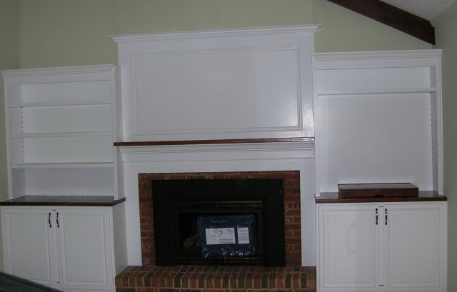 Built In Media Center Around Fireplace