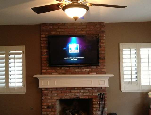 Ceiling Mount Tv Over Fireplace