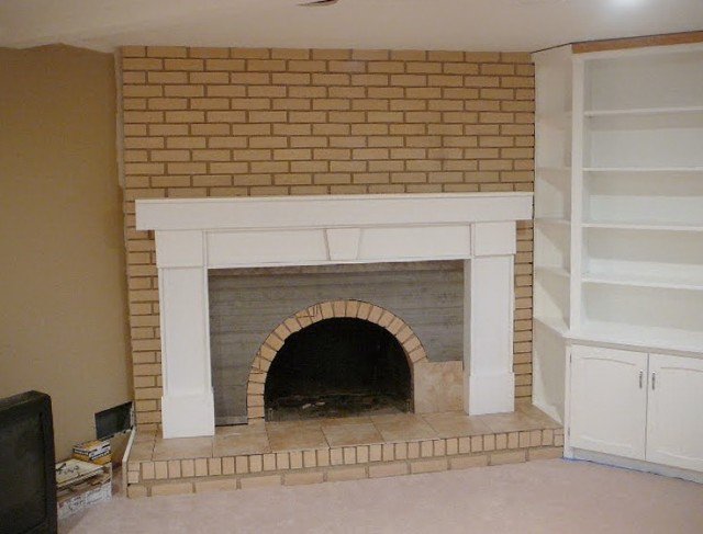Covering Brick Fireplace With Drywall