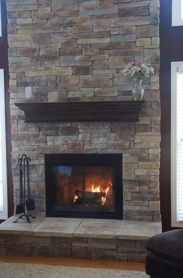 Covering Brick Fireplace With Stone