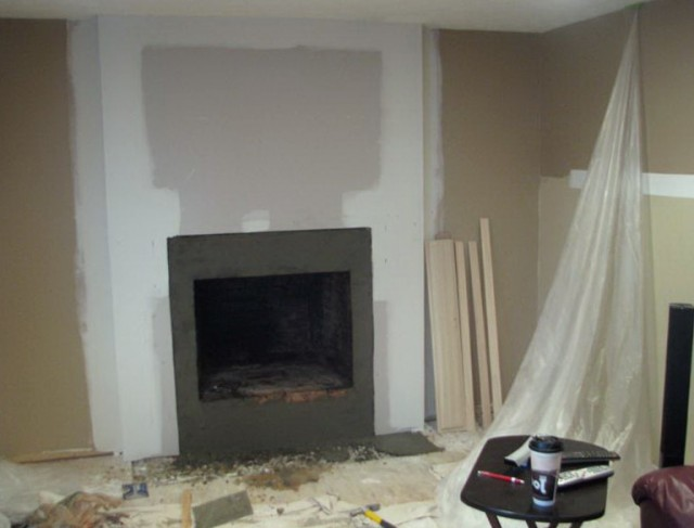 Covering Brick Fireplace With Tile
