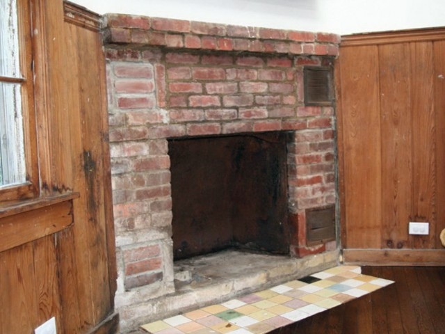 Covering Brick Fireplace With Wood