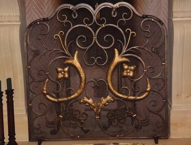 Custom Iron Fireplace Screens