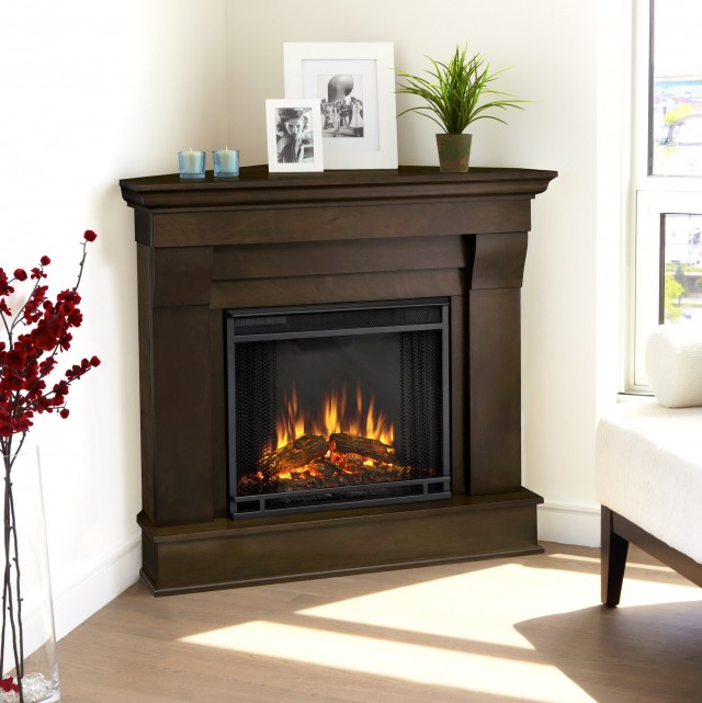 Dark Cherry Electric Fireplace