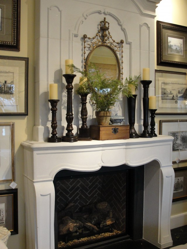 Decorating Fireplace Mantels With High Ceilings