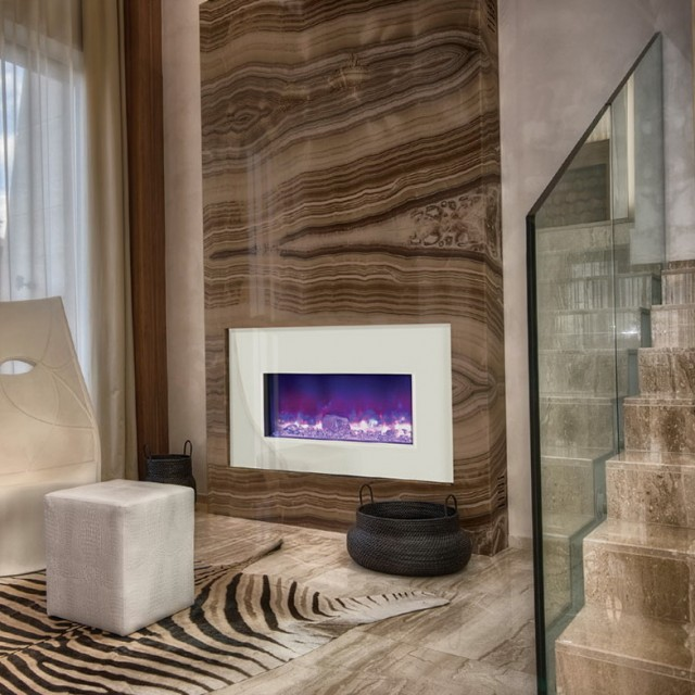 Fire And Ice Fireplace Glass