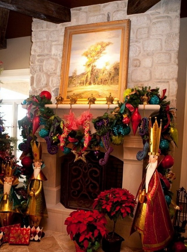 Fireplace Christmas Decoration Ideas Pinterest