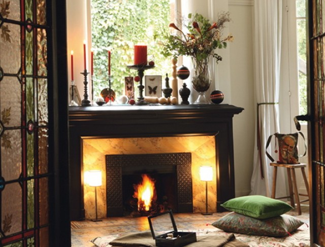Fireplace Mantel Christmas Decoration Ideas