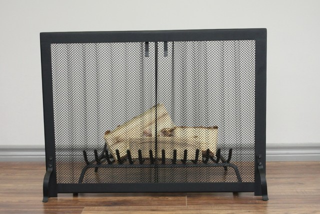 Fireplace Spark Screen Mesh Curtains