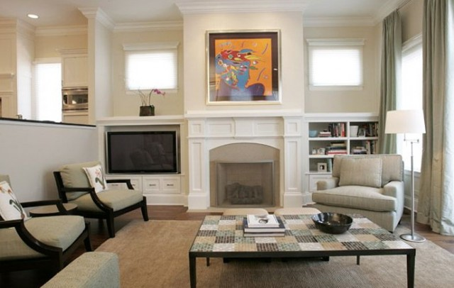 Fireplace With Built Ins And Tv