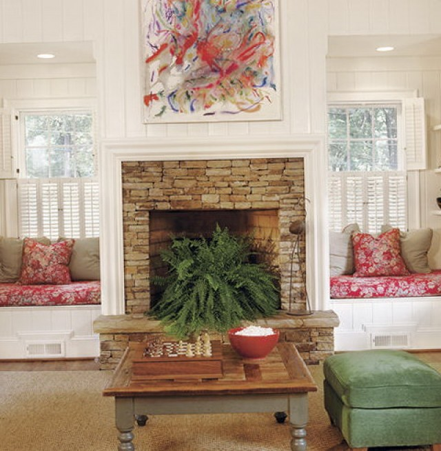 Fireplace With Built Ins On Each Side
