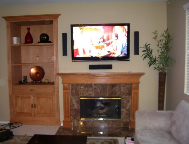 Flat Screen Above Fireplace