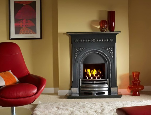 Flat Wall Electric Fireplace Suites