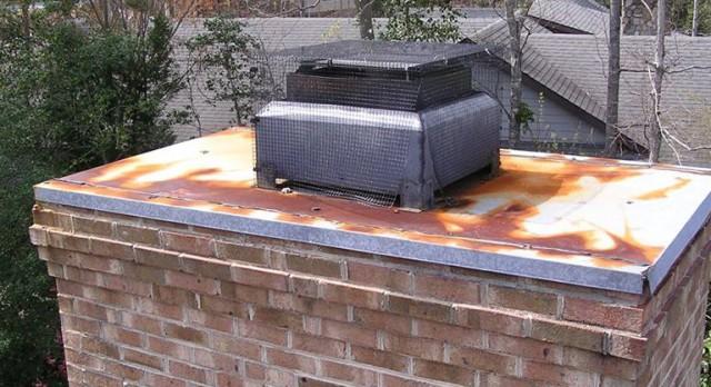 Gas Fireplace Flue Cover