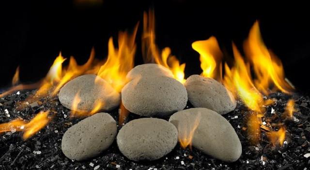 Gas Fireplace Glass Rocks