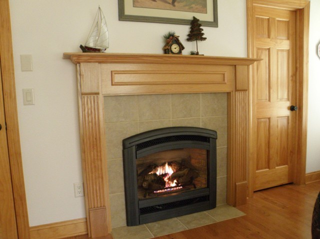Gas Fireplace Glass Tile Surround