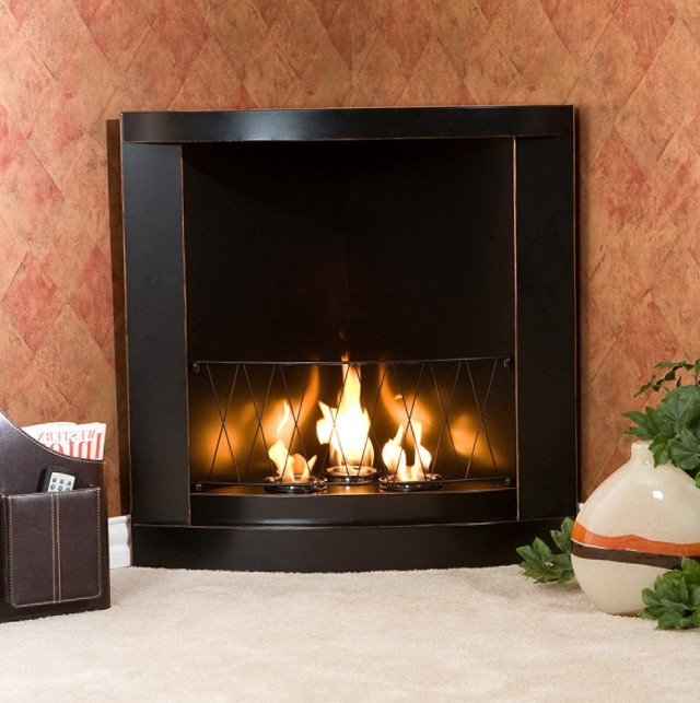 Gel Fuel Corner Fireplace