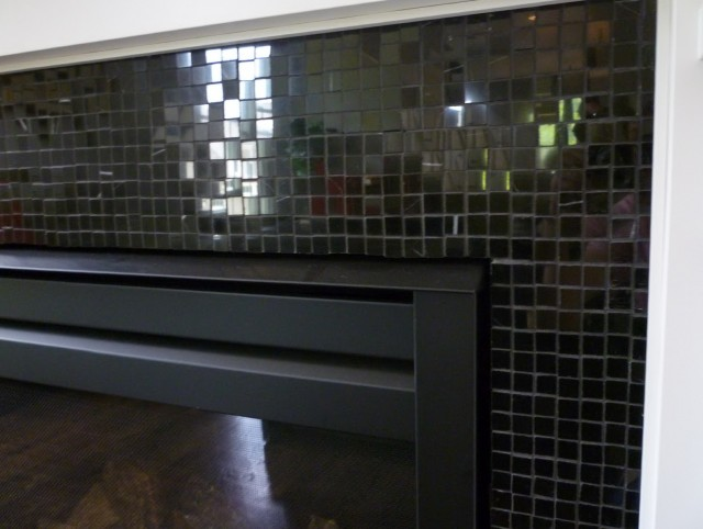 Glass Tile Fireplace Mantels