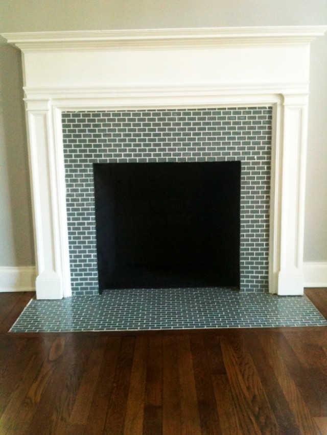 Glass Tile Fireplace Pictures