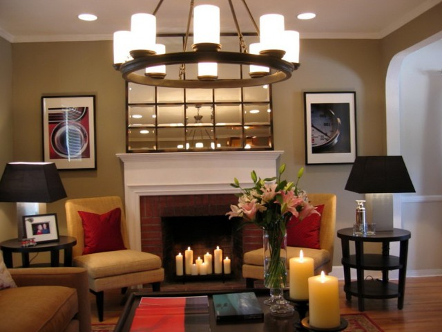 Large Mirrors Over Fireplace