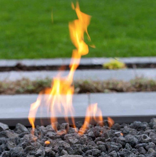 Outdoor Natural Gas Fireplace Burner