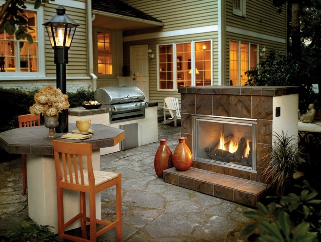 Outdoor Natural Gas Fireplace Kits