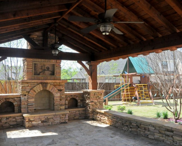 Patio And Fireplace Dallas