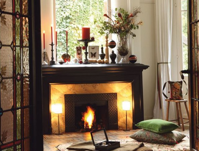 Pictures Of Fireplace Mantels Decorated