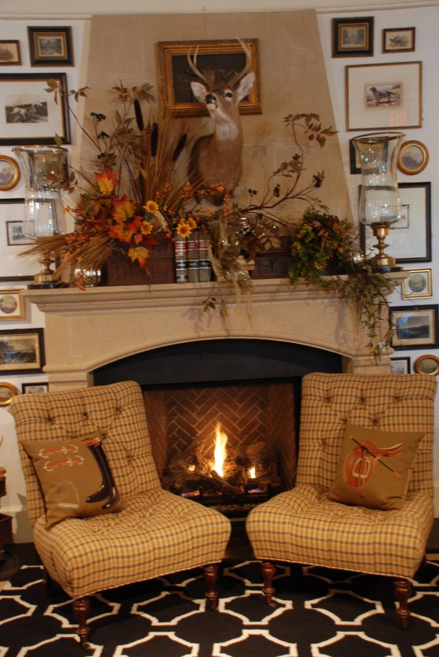 Pictures Of Fireplace Mantels Decorated For Fall