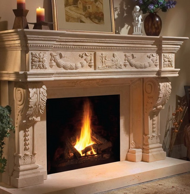 Pictures Of Stone Fireplaces With Mantels