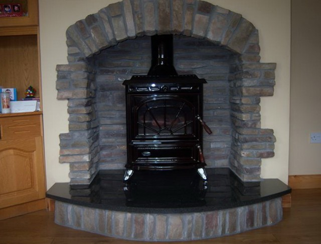 Pictures Of Stone Fireplaces With Stoves